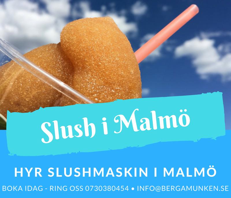 Hyra slushmaskin i Malmö, Skåne och Lund