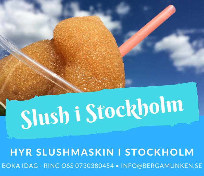 Hyra slushmaskin Stockholm slush
